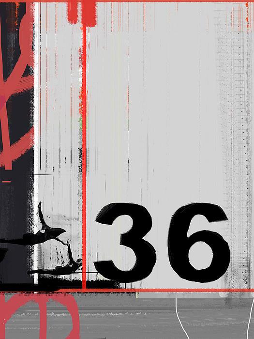 Number 36 Print by Naxart Studio