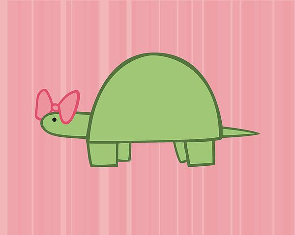 Nursery Art Girls Turtle Print by Christy Beckwith