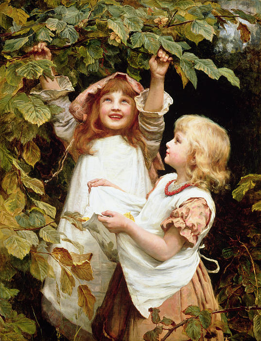 Nutting Print by Frederick Morgan