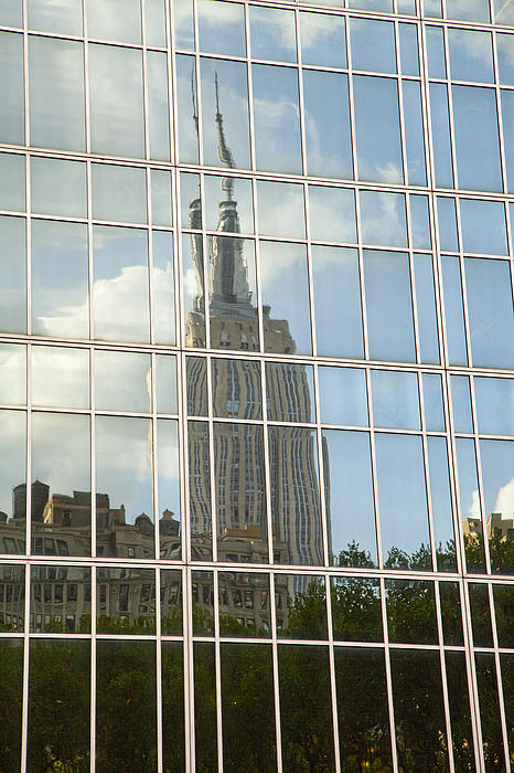 Nyc Reflection 4 Print by Art Ferrier