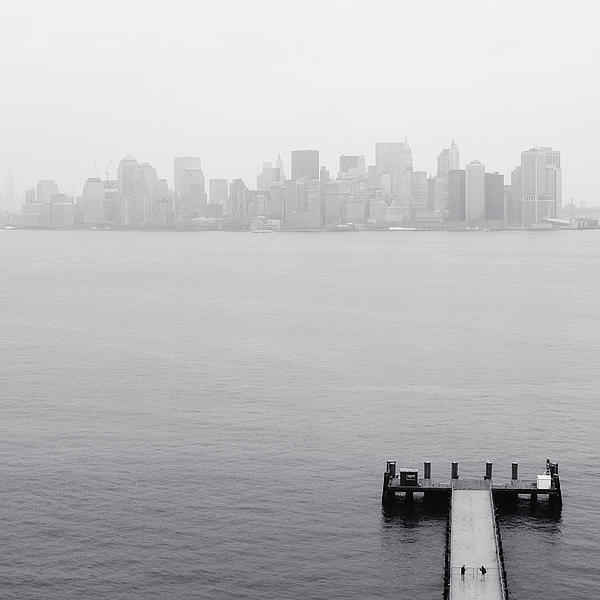 Nyc View From Liberty Island Print by Nina Papiorek