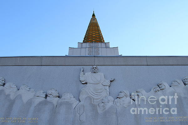 Oakland California Temple . The Church Of Jesus Christ Of Latter-day Saints . 7d11334 Print by Wingsdomain Art and Photography