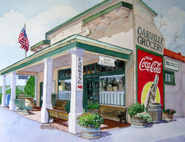 Oakville Grocery Print by Gail Chandler