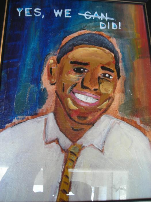 Obama Yes We Did Print by R Bruce Macdonald
