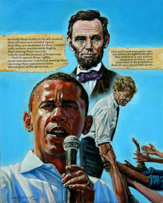 Obamas Heritage Print by John Lautermilch