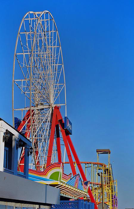 Oc Winter Ferris Wheel Print by Skip Willits