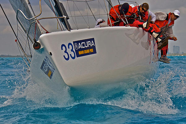 Ocean Racing Southern Florida Print by Steven Lapkin