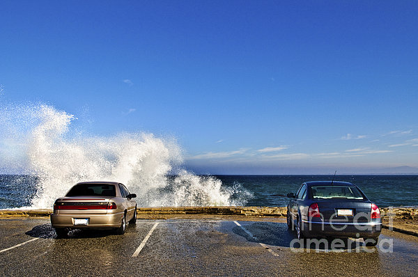 Oceanside Parking Print by Eddy Joaquim