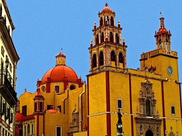 Ochre Cathedral Print by Olden Mexico