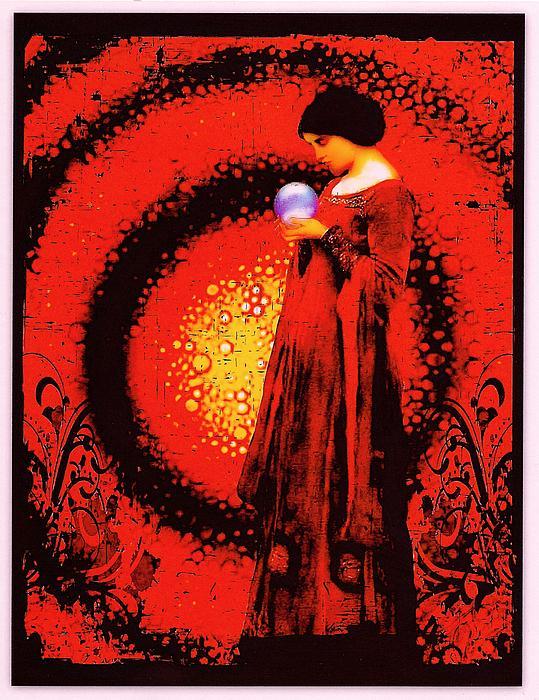October Moon Print by Janiece Senn