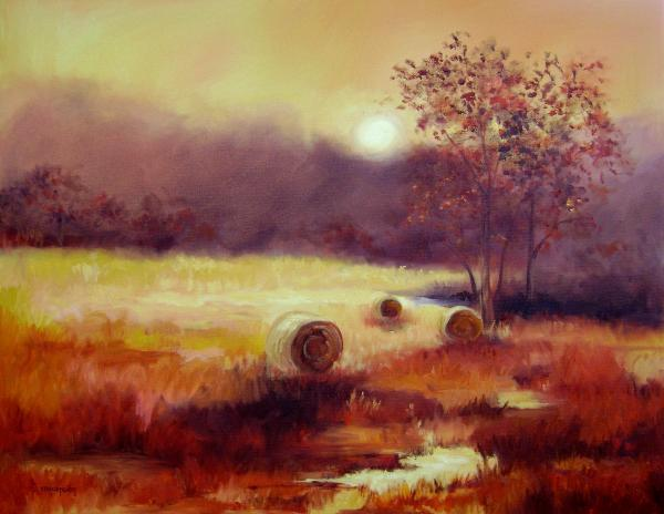 October Pasture Print by Ginger Concepcion