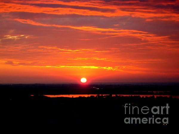 October Sunrise Print by Marilyn Magee