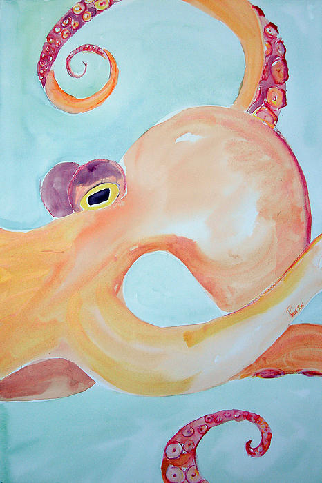 Octopus Triptych 1 Painting
