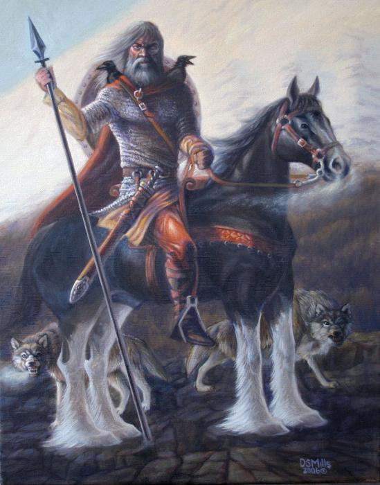 Odin Allfather Painting by Dan Mills - Odin Allfather Fine Art ...
