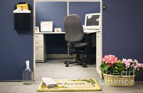 Office Cubicle Print by Andersen Ross