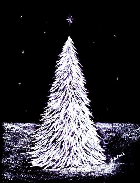 Oh Christmas Tree Print by Diane Frick