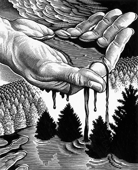 Oil Pollution Print by Bill Sanderson