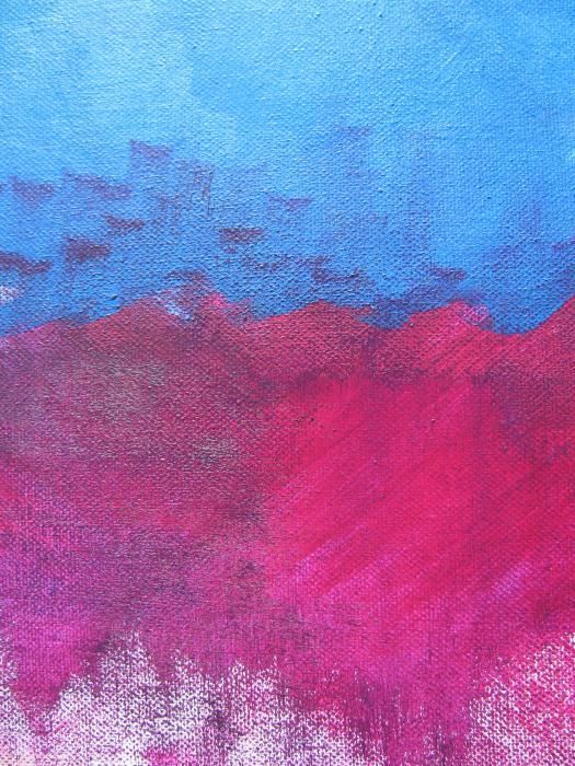 Oil Wave Print by Lindie Racz