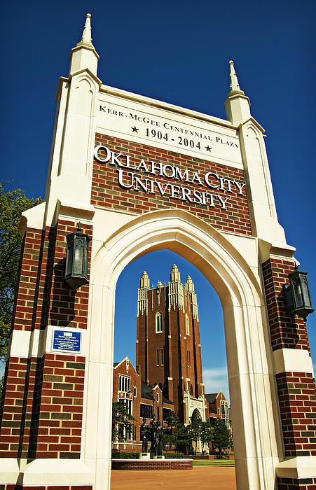 Oklahoma City University Print by Ricky Barnard