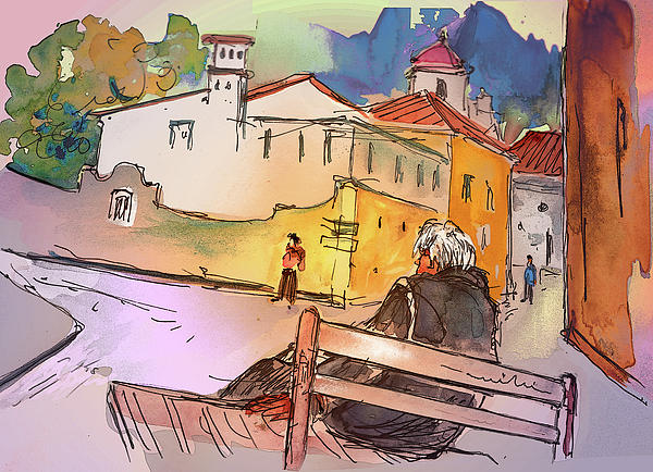 Old And Lonely In Portugal 07 Print by Miki De Goodaboom