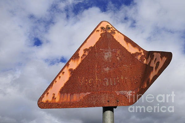 Matthias Hauser - Old and rusty traffic sign