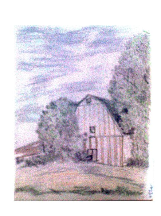 Old Barn Print by De Beall