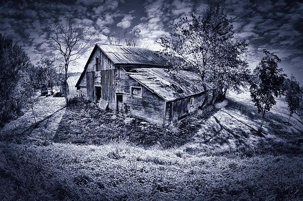 Old Barn Print by Donald Schwartz