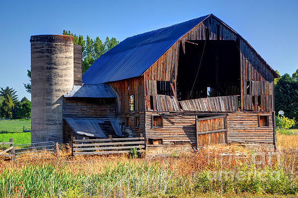 Gary Whitton - Old Barn with Concrete Grain Silo - Utah