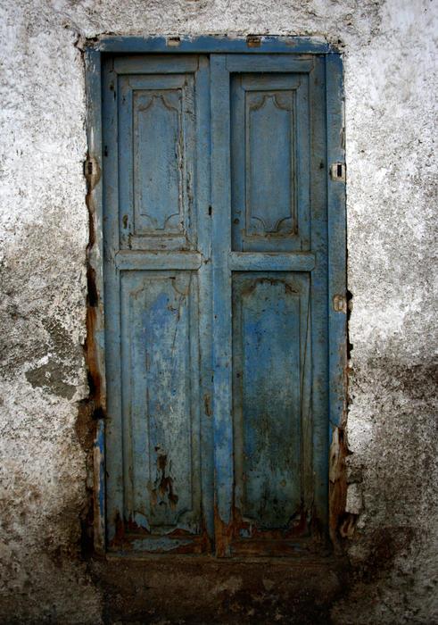 Old Blue Door Print by Shane Rees