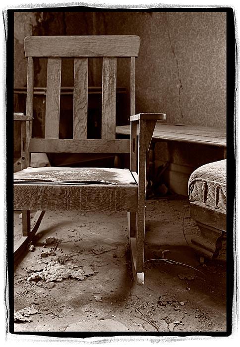 Old Chair Bodie California Print by Steve Gadomski