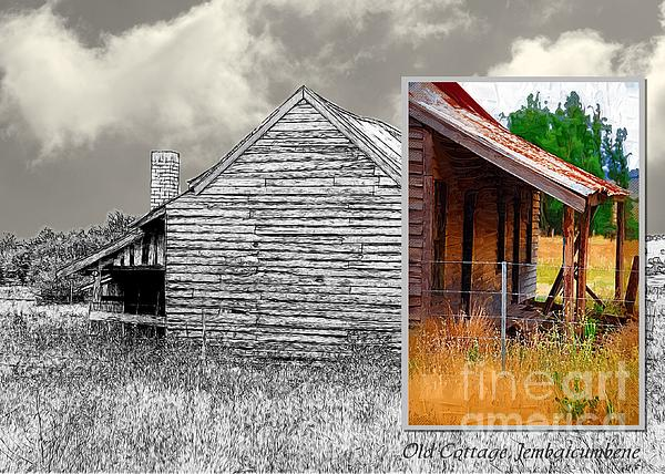 Old Cottage Diptych 2 Print by Fran Woods