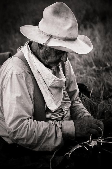 Old Cowboy Print by Toni Hopper