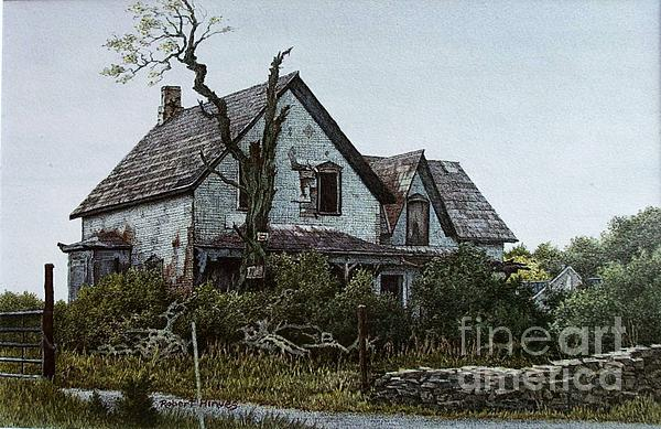 Old Farmhouse Picton Print by Robert Hinves
