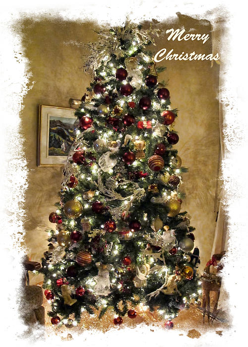 Old Fashioned Christmas Tree Scenes Framed Seasonal