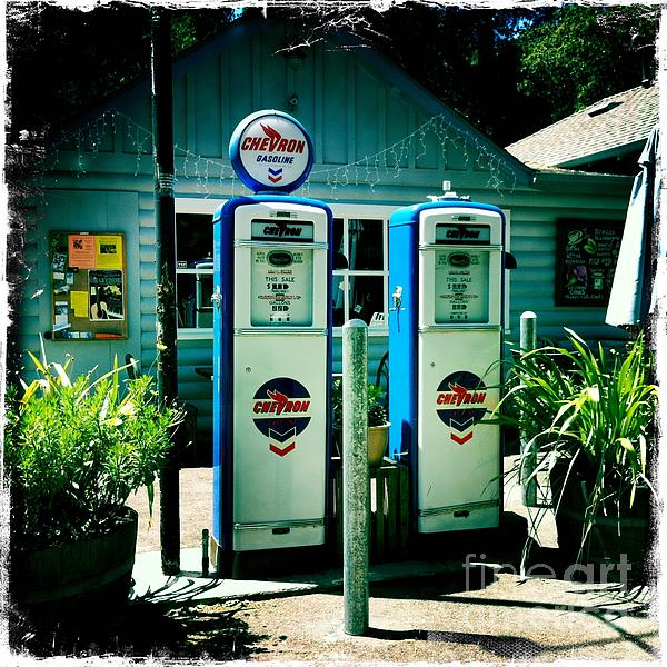 Old Fashioned Gas Station Print by Nina Prommer