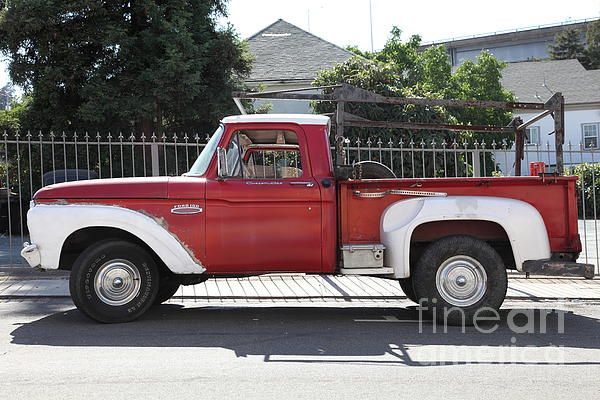 Old Ford 100 Truck . 5d16794 Print by Wingsdomain Art and Photography