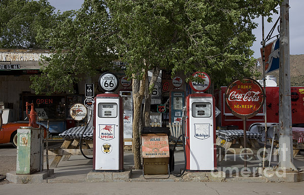 Old Gas Pumps, 2009 Print by Granger