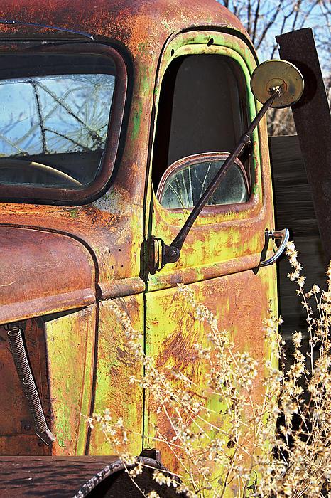 Phyllis Denton - Old Green Truck Door