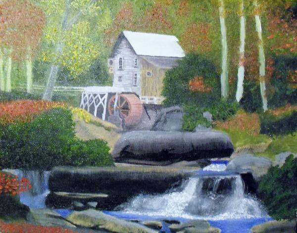 Old Grist Mill Print by John Smith