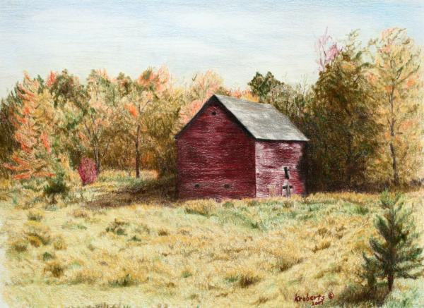 Old Homestead Barn Print by Kathy Roberts