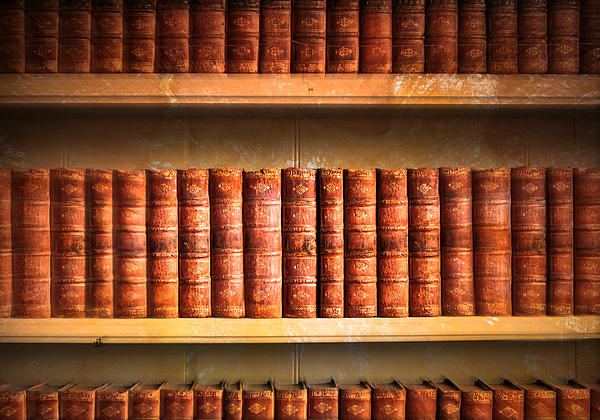 Old Library Print by Tom Gowanlock
