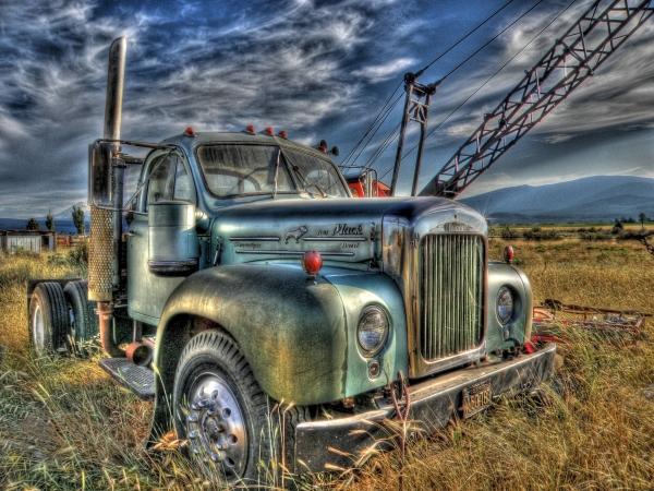 Old Mack Truck Print by Peter Schumacher