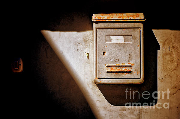 Old Mailbox With Doorbell Print by Silvia Ganora