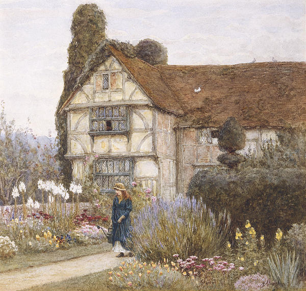 Old Manor House Print by Helen Allingham
