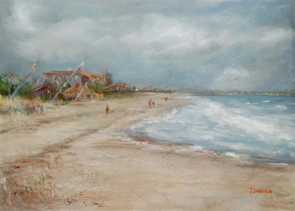 Old Orchard Beach Print by Joyce A Guariglia