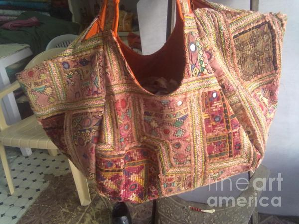 Old Patchwork Bag Tapestry - Textile