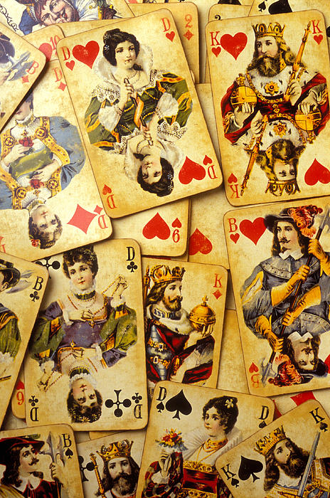 Old Playing Cards Print by Garry Gay