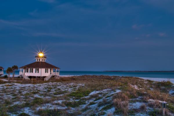 Old Port Boca Grande Lighthouse Print by Rich Leighton