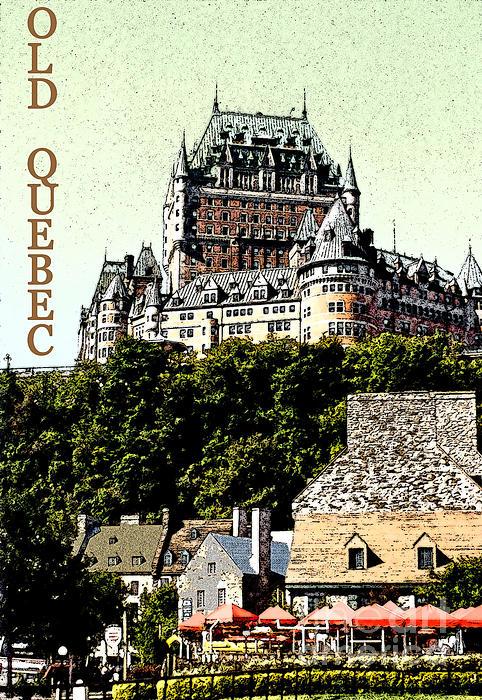 Old Quebec Print by Linda  Parker