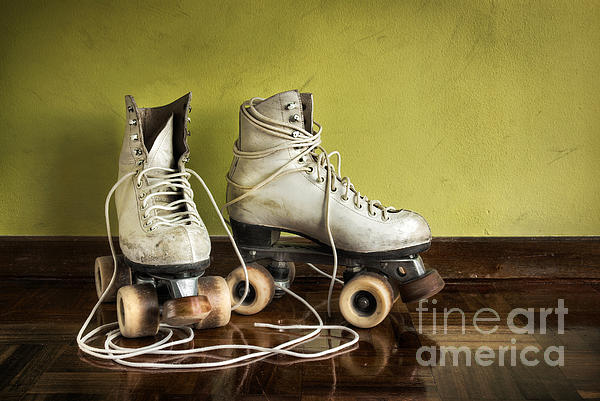 Old Roller-skates Print by Carlos Caetano